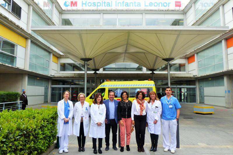 Docentes de Enfermería de una universidad portuguesa visitan el Hospital Infanta Leonor